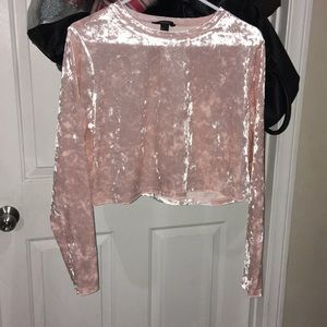 Long sleeve blush velvet